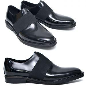 Bandage Strap Polished Oxford-Shoes 534