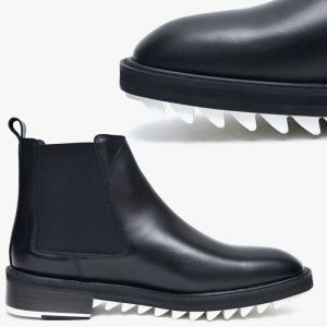 White Shark Sole Chelsea Boots-Shoes 536