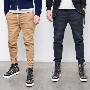 Basic Slim Semi Baggy Jogger-Pants 212