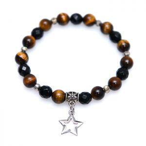Silver Star Charm Mix Beads-Bracelet 301