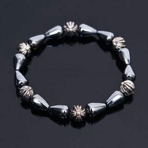 Metalic Hematite Gemstone Beads-Bracelet 304