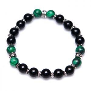 Green Ball Gemstone Beads-Bracelet 307