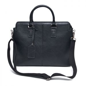Minimal Crack Leather Tote-Bag 186