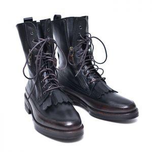 Tassled Zip High Biker Boots-Shoes 551