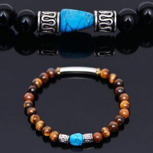 Turquoise Gemstone Mix Beads-Bracelet 324
