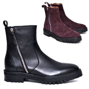 Dual Zip Urban Mid High Boots-Shoes 553