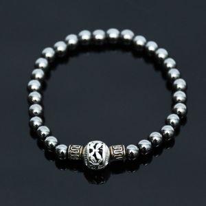 Exotic Charm Metalic Hematite Beads-Bracelet 327