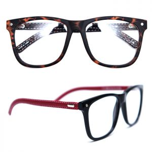 Stitching Leather Arm Teardrop-Glasses 26