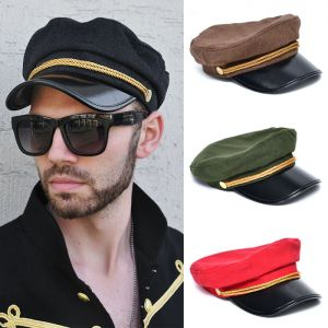 Lux Gold Twine Hard Brim Uniform Hat-Hat 62