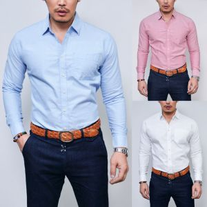 Slim Cut Basic Oxford-Shirt 163