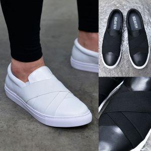 Designer Leather Bandage Slipon-Shoes 561