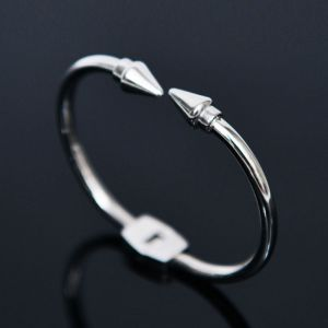 Sleek Arrow Steel Bangle-Bracelet 342