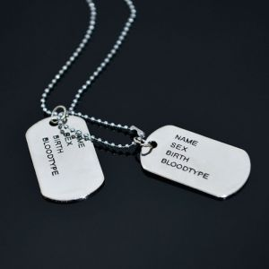 Classic Dog Tag Necklace-Necklace 275