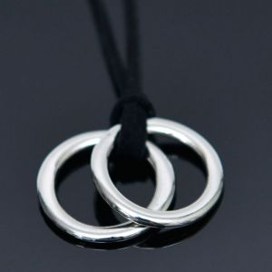 Double Circle Ring Necklace-Necklace 276