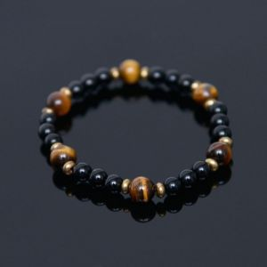 Tiger Eye Onix Jupiter Beads-Bracelet 353