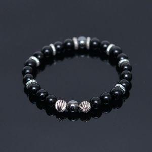 Hematite Onix Mono Beads-Bracelet 354