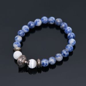 Antique Charm Sodalite Beads-Bracelet 360