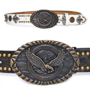 Big Brass Eagle Buckle Multi Studs-Belt 149