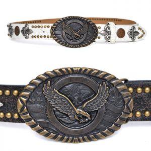 Big Brass Eagle Buckle Multi Studs-Belt 149