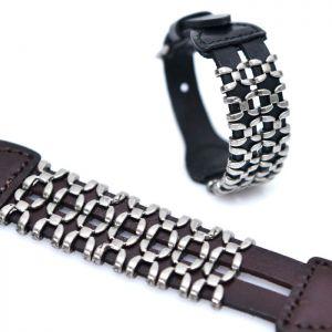 Silver Web Buckled Cuff-Bracelet 365