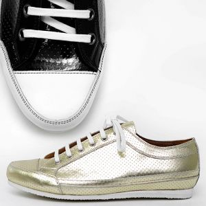 Metalic Punching Custom Leather Low Top-Shoes 308