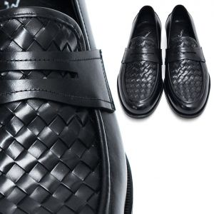 Lux Premium Leather Braided Loafer-Shoes 392