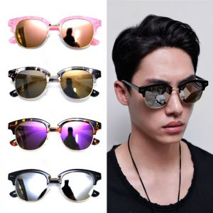 Gold frame Mirror Eyebrow-Sunglasses 98