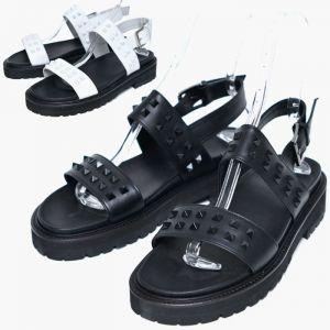 Square Stud Kipskin Custom Sandals-Shoes 571