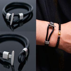 Minimal Leather Cuff-Bracelet 373