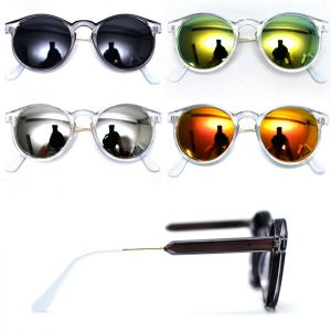 Trans Frame Mirror Round-Sunglasses 99