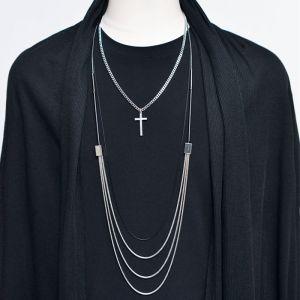Triple Silver 3pcs Cross Set-Necklace 295