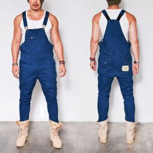Suspender Span Denim Overall-Jeans 318