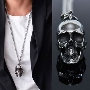 Full Steel Big Skull Long-Necklace 300