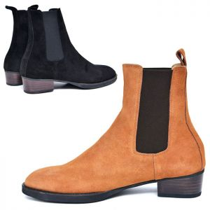 Suede Chelsea Banding Boots-Shoes 583