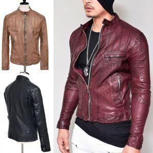 Snug Fit Lambskin Biker-Leather 110
