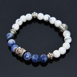 Sodalite & Hawlite Beads-Bracelet 398