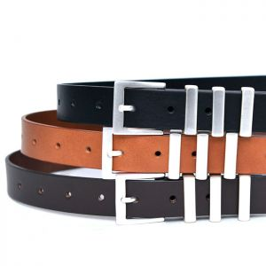 Matt 3 Buckle Unisex-Belt 158