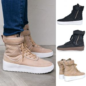 Military Leather High Top-Shoes 593