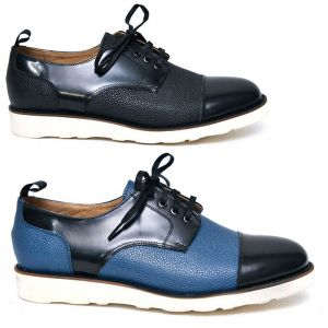 Full Grain Contrast Casual Brogue-Shoes 598