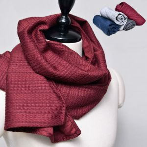 Sleek Wool Panama Muffler-Scarf 35