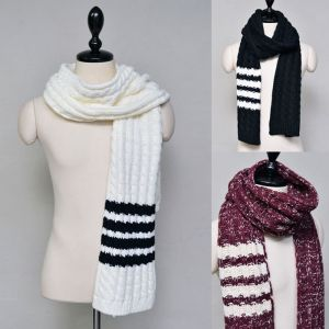 Chunky Cable Wool Knit-Scarf 37