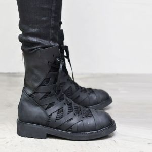 Spider Web Matt Leather Boots-Shoes 603