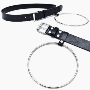 Long Circle Ring Leather-Belt 161