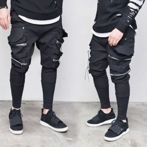 Dual Zip Big Cargo Webbing-Sweatpants 333