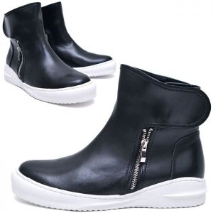 Strap Double Zip High-Shoes 610