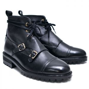 Double Monk Mid Top Boots-Shoes 612