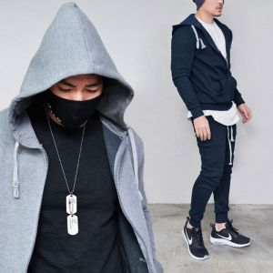 Basic Fleece Hood Jogger Set-Gymwear 24