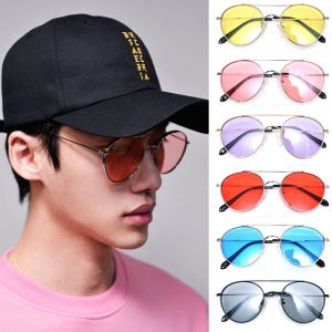 Retro Wide Frame Tint Aviator-Sunglasses 107