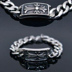Roman Cross Steel Chain Cuff-Bracelet 409