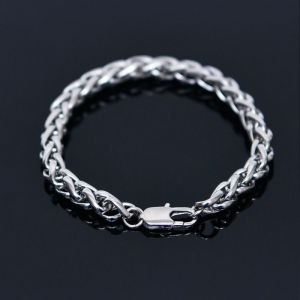 Sleek Metal Twist Chain Cuff-Bracelet 412